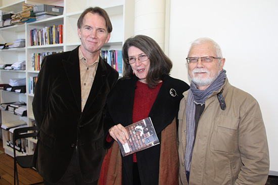 Peter Rose, Morag Fraser, and Rodney Hall at opening of Boyd in 2012