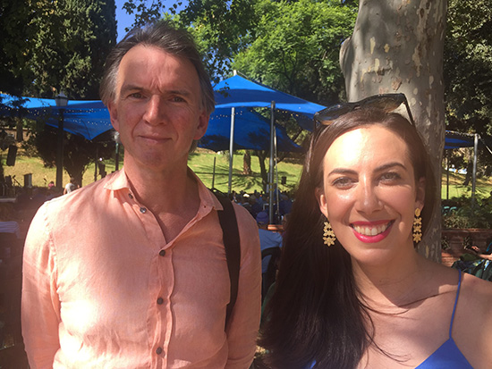 Peter Rose and Sarah Holland Batt at Writers Week 2018