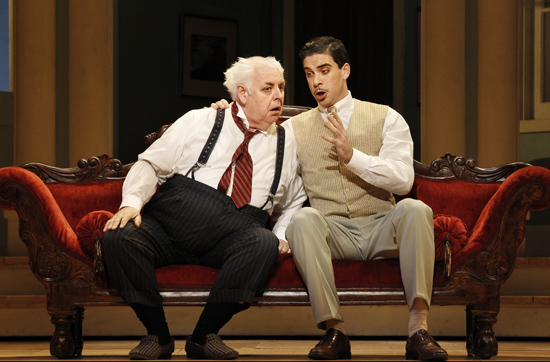 Conal Coad as Don Pasquale and Samuel Dundas as Dr Malatesta photograph by Jeff Busby