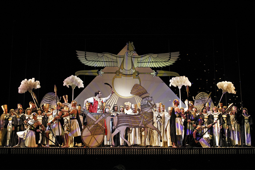 Artists of Opera Australia in Opera Australias production of Aida Photograph by Jeff Busby