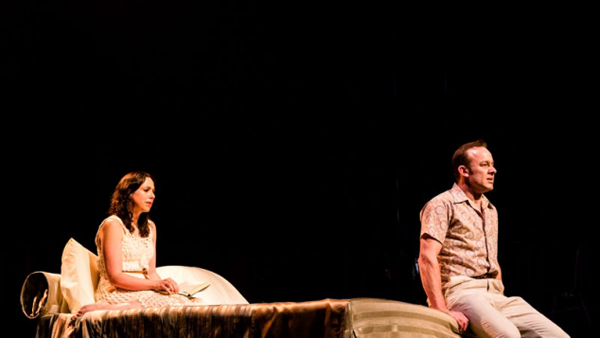 Alison Bell and Mark Saturno in Betrayal (photograph by Shane Reid)