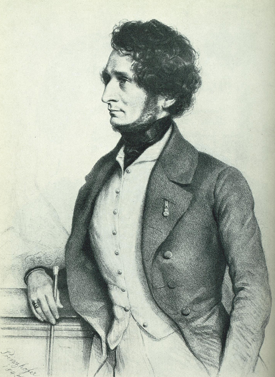 Berlioz by Prinzhofer 1845