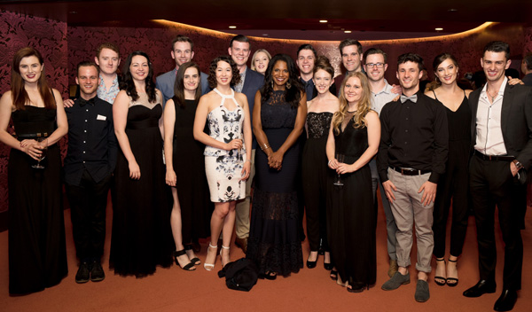 Audra McDonald backstage with young singers at the Melbourne concert, An Evening with Audra McDonald, October 31, 2015