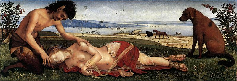 Piero di Cosimo The Death of Procris National Gallery London via Wikimedia Commons