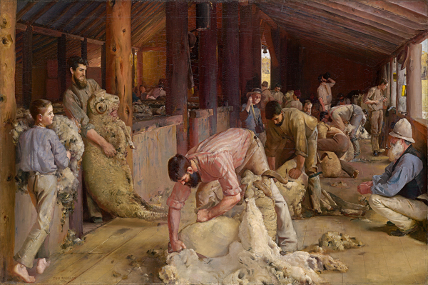 Tom Roberts, Shearing the rams (National Gallery of Victoria, Melbourne)