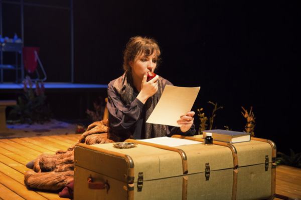 Alexandra Aldrich as Katherine Mansfield (photograph by George Darsas)