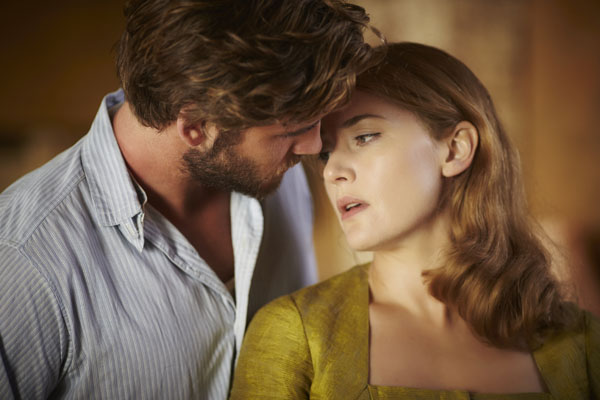 The Dressmaker smaller Liam Hemsworth and Kate Winslet photograph by Ben King