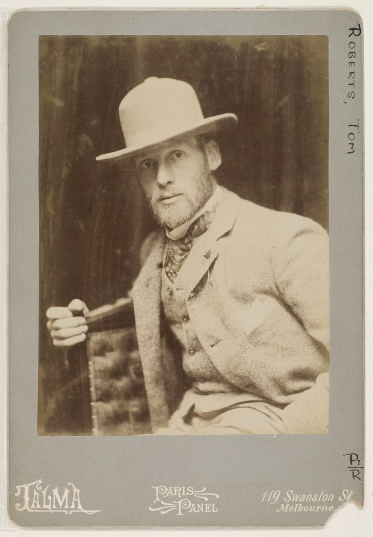 Tom Roberts, ca. 1893-1895 (photograph by Talma, courtesy of the State Library of NSW)