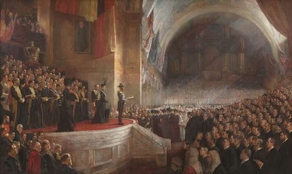 Tom Roberts, Opening of the first parliament of the Commonwealth of Australia 9 May 1901 (Royal Collection Trust, on permanent loan to Parliament House, Canberra)