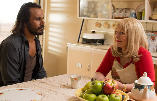Goldstone Aaron Pedersen and Jacki Weaver being Civil