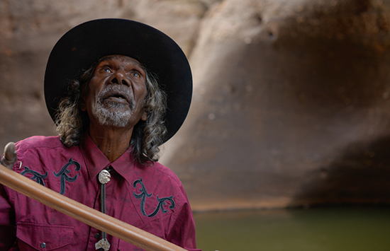 Goldstone David Gulpilil in Cobbold Gorge