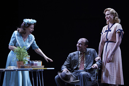 Robyn Nevin Josh McConville and Eryn Jean Norvill in Sydney Theatre Companys All My Sons