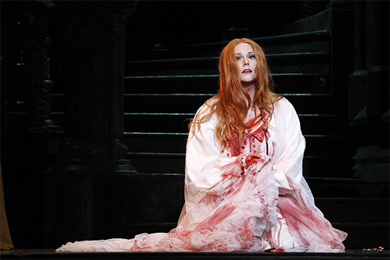 Jessica Pratt in Lucia di Lammermoor photograph by Jeff Busby