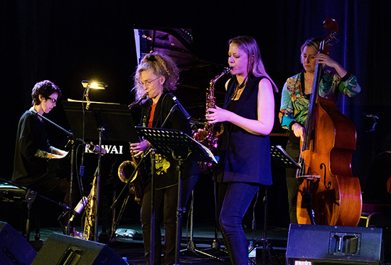 WJF Melbourne Womens International Jazz Festival Quintet photo by Roger Mitchell 550