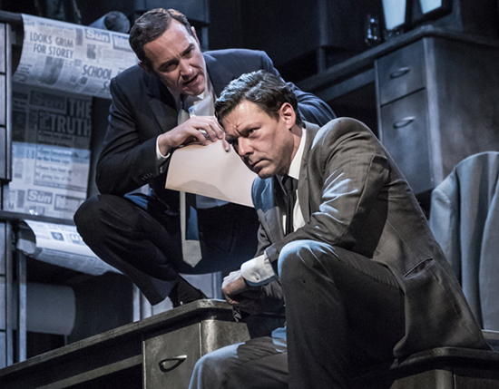 Ink Bertie Carvel Rupert Murdoch and Richard Coyle Larry Lamb in Ink