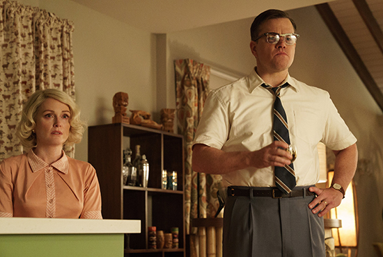 Julianne Moore and Matt Damon in Suburbicon Roadshow Films