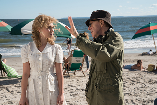 Juno Temple and Woody Allen behind the scenes of Wonder Wheel Entertainment One
