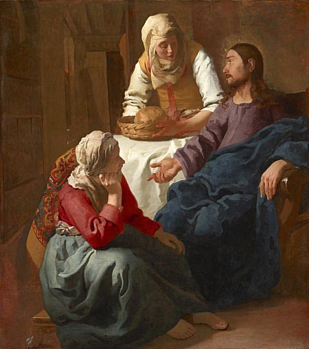 Christ in the House of Martha and Mary 1654 1656 by Johannes Vermeer