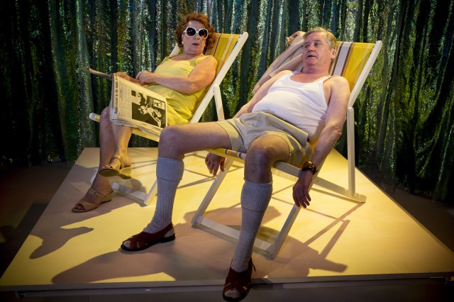 Valerie Bader and Peter Kowitz as Irene and Les Harding in The Floating World photograph by Brett Boardman