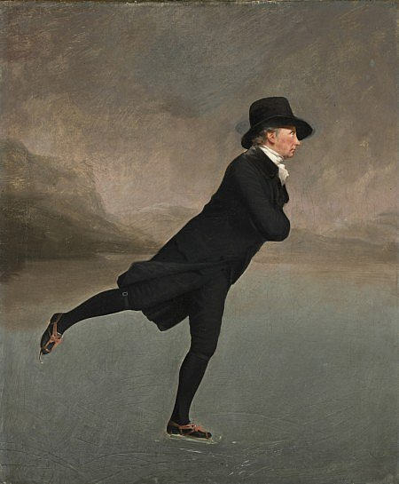 Reverend Robert Walker (1755-1808) Skating on Duddingston Loch by Sir Henry Raeburn (c.1795) (National Galleries Scotland)