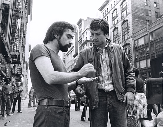 Scorsese and Robert De Niro TAXI DRIVER USA 1976 Source - Sikelia Productions New York
