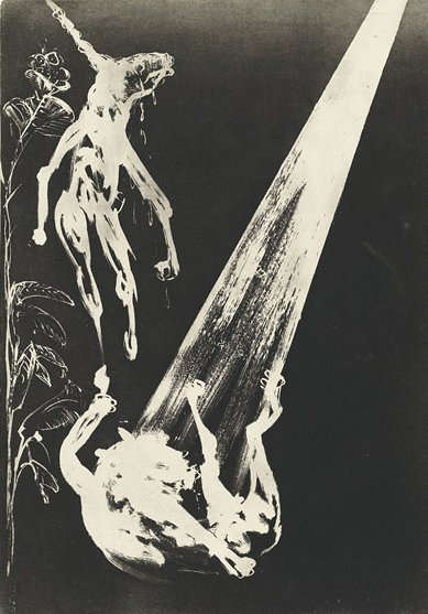 Arthur Boyd, The unicorn and the angel from the series The lady and the unicorn, 1975 (Arthur Boyd's work reproduced with the permission of Bundanon Trust)