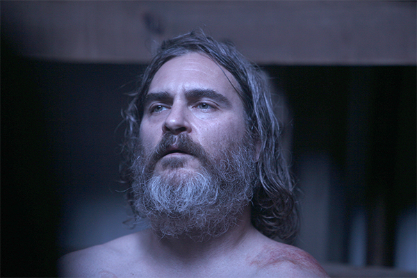 A still of Joaquin Phoenix in You Were Never Really Here (Umbrella Entertainment)