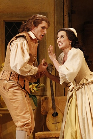 JOnathan Abernethy as Fento and Taryn Fiebig as Nanetta photograph by Jeff Busby cropped