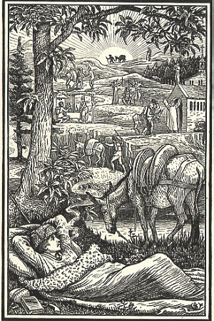Picture 2 - Travels with.donkey - illustration by Walter Crane
