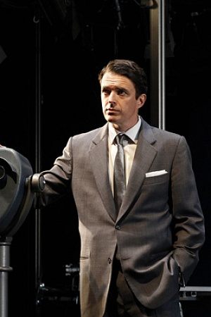 Matt Day as Roger O. Thornhill in Melbourne Theatre Company's North by Northwest (photograph by Jeff Busby)