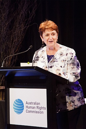 Susan Ryan speaking at the 2015 Human Rights Awards (Australian Human Rights Commission/Wikimedia Commons)