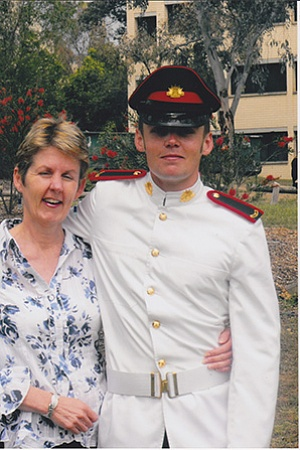 Lucas Grainger Brown and his mother