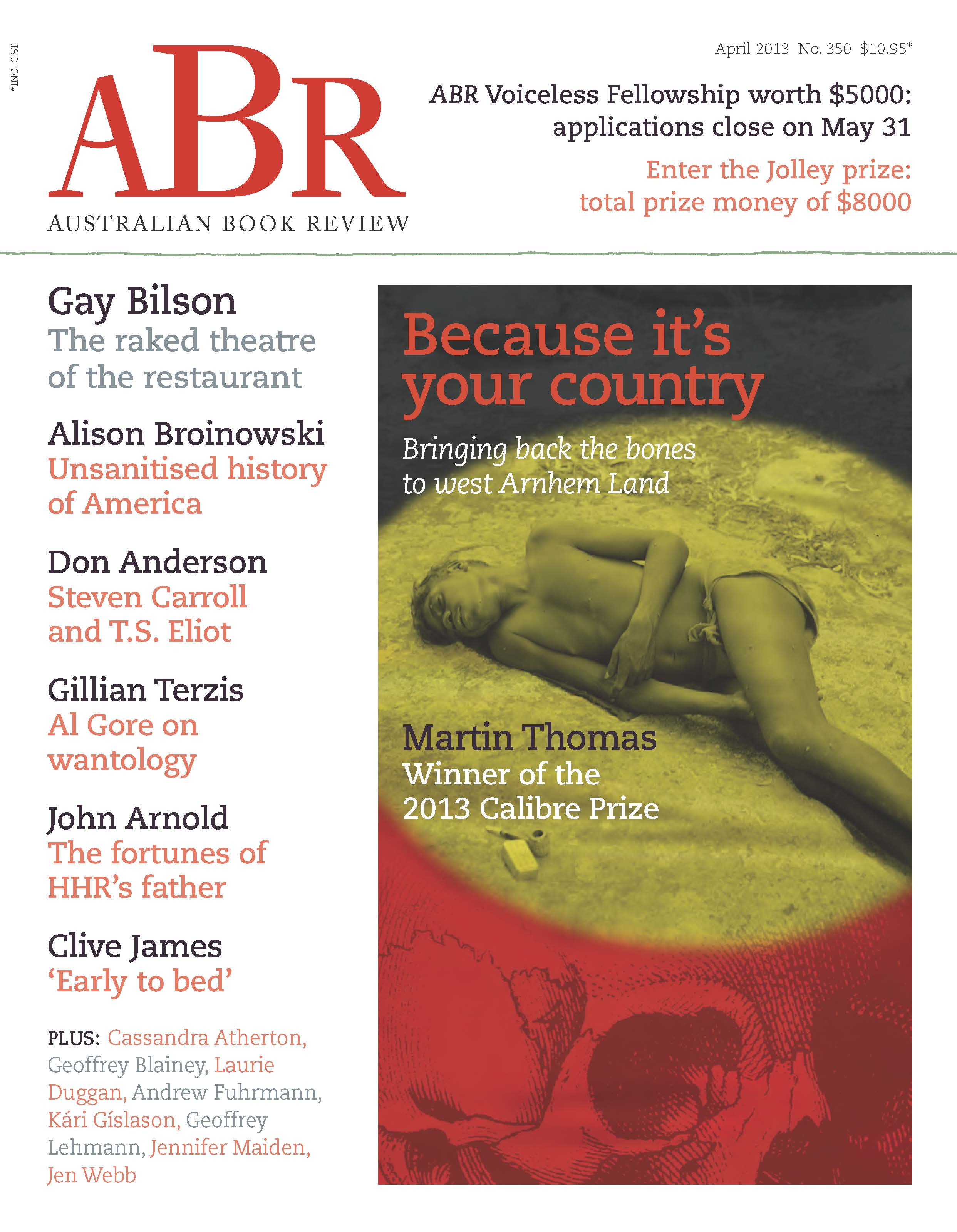 ABR April 2013 cover