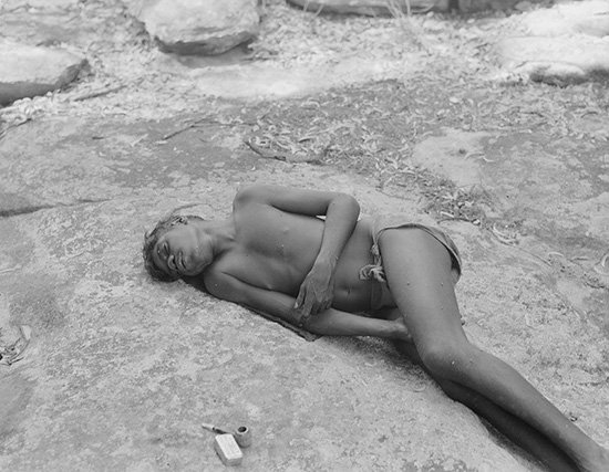 Jimmy Bungaroo asleep, 1948. Photograph by Frank M. Setzler. Photo Lot 36 (oenpelli_142), National Anthropological Archives, Smithsonian Institution.