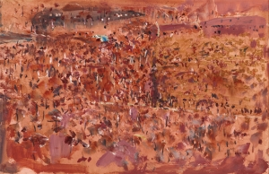 Fred Williams in the You Yangs (Geelong Gallery)