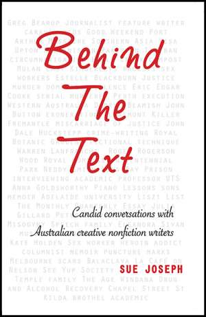 Tali Lavi reviews 'Behind the Text: Candid conversations with Australian creative nonfiction writers' by Sue Joseph