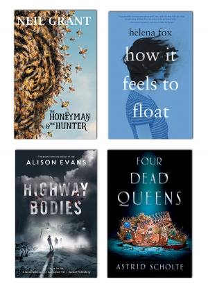 Emily Gallagher reviews 'Highway Bodies' by Alison Evans, 'Four Dead Queens' by Astrid Scholte, 'The Honeyman and the Hunter' by Neil Grant, and 'How It Feels to Float' by Helena Fox