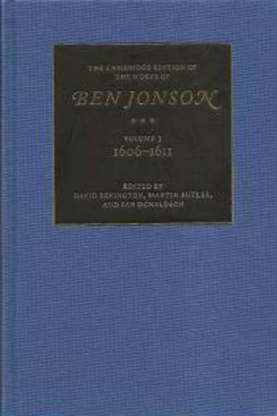 Our century's edition of Ben Jonson